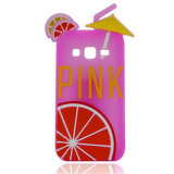 Lemon Pink Letter Rubber Simple Silicon Phone Cases