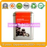 초콜렛 주석 상자 패킹을%s 장방형 초콜렛 콘테이너