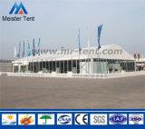 Tenda corporativa esterna di evento con la parete di vetro