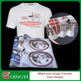 Qingyi sérigraphie autocollant de transfert de chaleur pour t-shirt