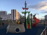 Parque de juguete equipo del patio