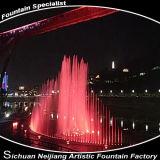 Disegno di progetto dell'acqua della fontana di illuminazione