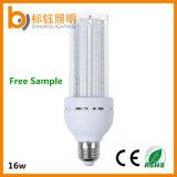 lámpara de interior ahorro de energía del bulbo de los bulbos E27 4u del hogar de la iluminación de la luz 85-265V de las lámparas SMD del maíz de 16W LED