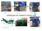 Neumático que recicla la línea, basura/neumático usado que recicla la máquina