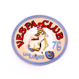 Emblema do bordado da placa conhecida de Promoção Companhia