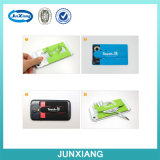 Silicone Stick Credit Card Slot Shell Case para Smart Phone
