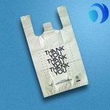 習慣によって印刷されるプラスチックTシャツのショッピング・バッグ