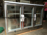 Stainless Stee Under Counter Back Bar Cooler com porta de vidro