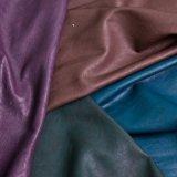Couro sintético gravado plutônio superior do PVC da alta qualidade da venda para sapatas das bolsas da mobília