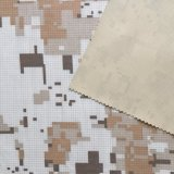 Tela impresa y revestida de la tela de redes del camuflaje, pongis polivinílica de la verificación