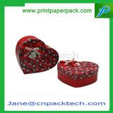 Rectángulo de regalo de papel de empaquetado del chocolate de la Corazón-Dimensión de una variable de encargo