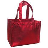 인쇄된 PP 짠것이 아닌 쇼핑 끈달린 가방