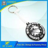 Modifica molle personalizzata 100% dell'anello chiave del PVC di prezzi di fabbrica per il ricordo (XF-KC-P06)
