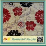 Tela 100% de Chenille del telar jacquar de la tapicería de la tela del sofá del Chenille del poliester