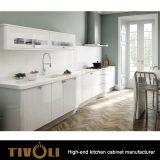 緑の絵画白いペンキの食器棚Tivo-0152V