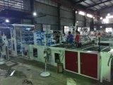 Plastikwellen-Oberseite-halber runde Oberseite-Griff-Einkaufen-Träger-Beutel, der Maschine herstellt