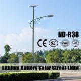 modèle solaire des réverbères de batterie au lithium 12V 6m Pôle 30W~120W DEL