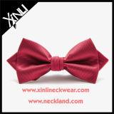 Rojo tejido seda al por mayor de encargo de la pajarita de los hombres para los hombres