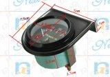 Calibre voltmètre de 2 po 52 mm de fond noir