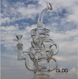 Tubo di acqua di vetro saltato nuova mano del riciclatore del Borosilicate di disegno di Gldg variopinta impressionante