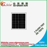 mono painel solar de 18V 25W para o sistema 12V (2017)