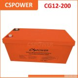 Fornecedor do acumulador do gel de Cg12-200 China 12V 200ah com garantia 3years