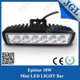 18W Mini Lichte Staaf van het LEIDENE Voertuig van het Werk de Lichte Auto4X4