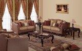 Sofá clássico americano da tela ajustado para a mobília antiga da sala de visitas