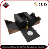 Rectángulo de empaquetado de papel modificado para requisitos particulares material reciclado del cartón de la insignia