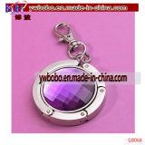 昇進のギフトのKeychainの最もよい昇進項目(G8068)が付いている紫色の財布のハンガー