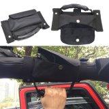 Maniglie illimitate resistenti della gru a benna della barra di rullo del nero della maniglia della gru a benna della barra di rullo con la casella del sacchetto di memoria per il Wrangler 1987-2017 della jeep Tj Cj Yj Jk Jku