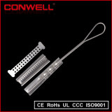 Abrazadera de tensión de cable de fibra óptica