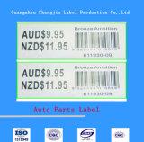 Qualitäts-anhaftende Autoteil-Kennsätze und Maschinen-Zusatzgeräten-Aufkleber