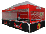 Sublimation da tintura 3X3 que anuncia a barraca Pop-up do Gazebo