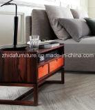 2016 Venta caliente tapizada muebles de cuero del dormitorio de la cama doble