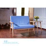 Sofá moderno del salón del marco de madera sólida de la sala de estar (HW-3981S)