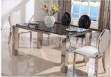安い価格の丸背のホテルの食堂のステンレス鋼の椅子