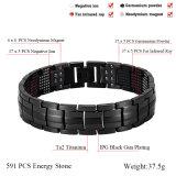 Bracelets magnétiques en acier titaniques de mode de Hottime avec la pierre de l'énergie 591PCS (10145)