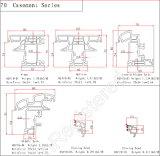 70 séries de tissu pour rideaux Windows et profils de portes