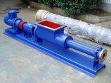 장방형 공급 호퍼를 가진 단 하나 나선식 펌프