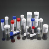 контейнеры образца 30ml PS всеобщие с ложкой и напечатанным ярлыком