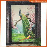 De Kunst van de Schilderijen van de Pauw van de Decoratie van het meubilair met het Olieverfschilderij van het Canvas van het Frame