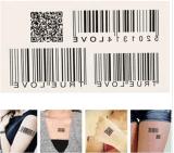 Etiquetas engomadas temporales impermeables del tatuaje del tótem de moda del código de barras
