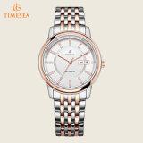 Relógios mecânicos Gold-Tone 72478 do aço inoxidável da forma de Rosa dos homens