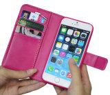 Случай бумажника PU кожаный с случаем iPhone 7 аргументы за отделяемого магнита тонкий