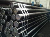 Negro con soldadura de tubería de acero sin costura con barato precio por metro