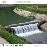 플러드 보호를 위한 물 & 공기에 의하여 채워지는 팽창식 고무 댐