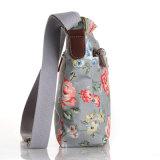 Sac floral britannique de femmes de toile imperméable à l'eau de PVC rétro (99178)