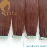 30 # Auburn Color Human Virgin Hair Tape Extensão do cabelo