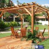 Pergola de madeira personalizado ao ar livre projetado de WPC para o jardim